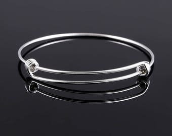 Free Shipping* - Wholesales Expandable Bangles Stainless steel Bracelet & Bangle  50/55/60/65 mm Bulk Wholesale Price (SSS1201)