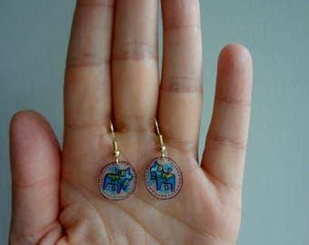 Little Dala Horse Dangle Earrings