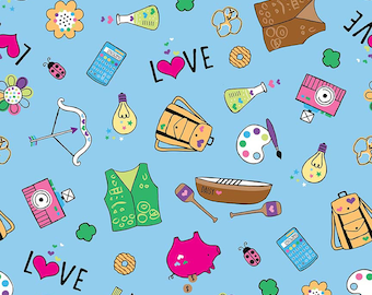 Girl Scouts Main Blue - Riley Blake Designs - Camping Arts - Quilting Cotton Fabric - choose your cut
