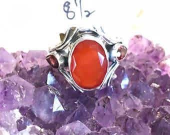 Carnelian Ring Size 8 1/2