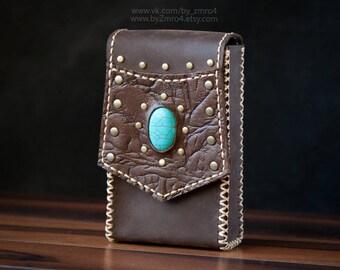 Tarot Bag, Belt Bag for Tarot, Leather Fanny Pack, Leather Tarot Case, Jewelry Leather Belt Bag, Brown Leather Tarot Cards Case, Tarot Box