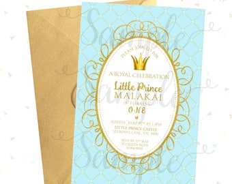 ROYAL/Little PRINCE Birthday OR Baby Shower Invitation