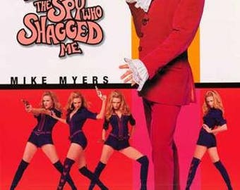 Austin Powers Mike Myers The Spy Who Shagged Me Rare Vintage Poster