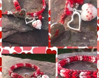 "Valentines dream                                           A gorgeous 7"" Herringbone Wrap Bracelet"