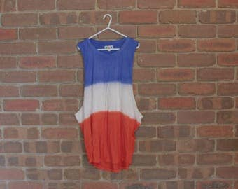 90s french flag BEACH TANK