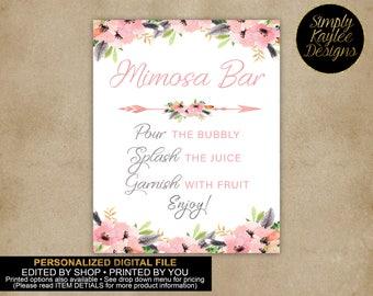 Boho Bridal Shower Mimosa Bar Sign