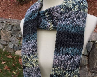 Handmade Knit Scarf, Men's Scarf, Winter Scarf