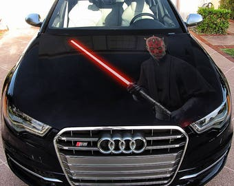 Vinyl Car Hood Full Color Wrap Graphics Decal Sith Darth Maul Star Wars Sticker #2