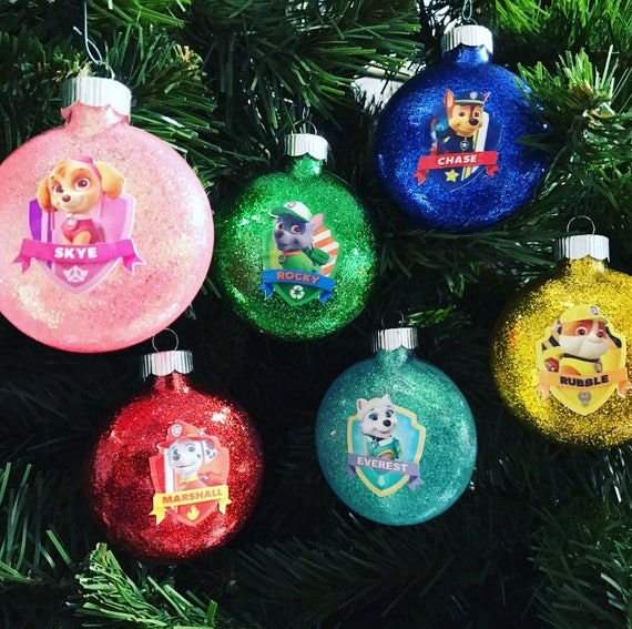 Paw Patrol Inspired Ornaments