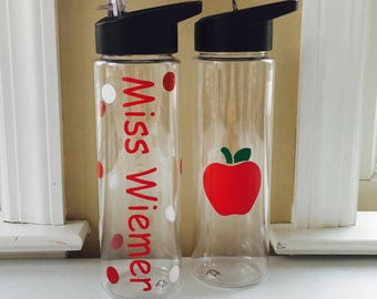 Teachers Gift, Gift For Teachers, Teacher Water Bottle, Teacher Appreciation, Personalized Teacher Gift, End Of The Year Teacher Gift