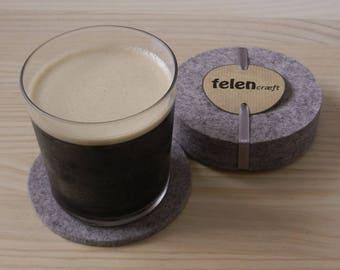 Felt bar mats, Coasters, 5mm felt, Drink mats, Melange felt, Circular bar mats,