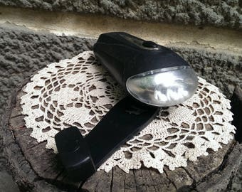 Vintage Flashlight Dynamo, Torch Dynamo Machine, Rotating Flashligth, Travel Torch, Posket Tourist Flashlight