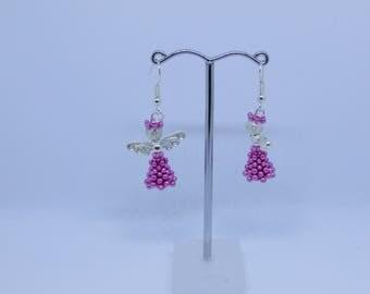 Pink Angel Earrings