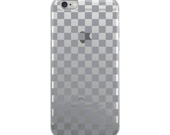 Grey Checkerboard Pattern iPhone Case