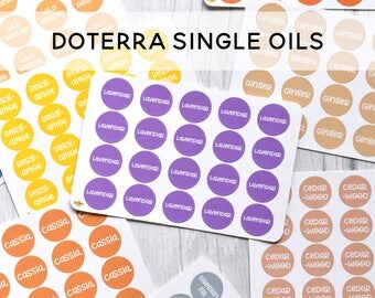 Doterra Inspired Essential Oil Label Stickers - SINGLES