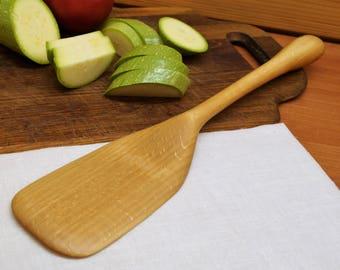 Wooden kitchen spatula from beech,wooden spoon,carved wooden spatula,wooden kitchen utensil,baking,cooking spatula,chef's gift,foodie,eco