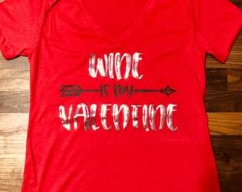 Womens vneck valentines tshirt