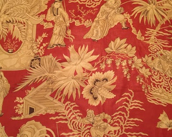 Chinoiserie Upholstery Fabric. Red Upholstery Fabric. Clarence House Fabric. Upholstery Fabric Square. Upholstery Fabric. Designer Fabric