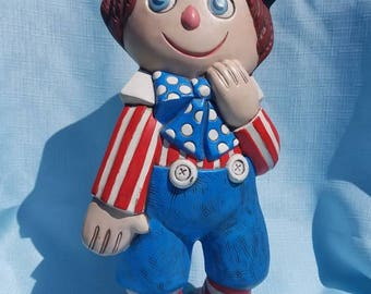Vintage 1974 Raggedy Andy by Gare Inc (Ceramic)
