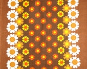 Daisy Flower Power Tea Towel - Vintage Retro Psychedelic Daisies Mod Dish Cloth - Brand New Cotton Made in Brazil