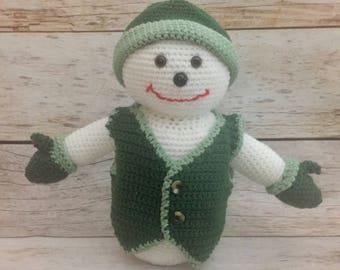 "12"" Crochet Snowman Toy - Frosty the Snowman - Christmas Toy - Christmas Decoration - Christmas Gift - Amigurumi"
