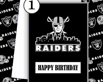 Raiders Oakland Card -Raiders Fan, Football Team Card, Raiders Oakland,Football Greeting Card