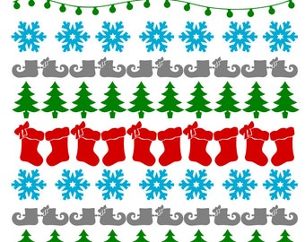 Ugly Sweater - Christmas - svg, pdf, png file