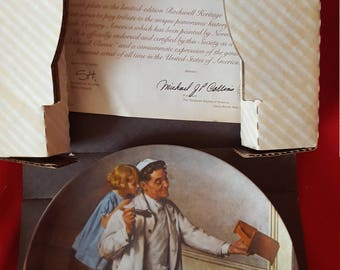 Norman Rockwell Collectable Plate The Painter