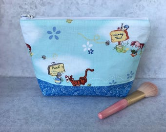 Girls Winnie the Pooh/ Tigger/ Eeyore/ Piglet Makeup/ Cosmetic Bag Knitting/Accessories Zip pouch