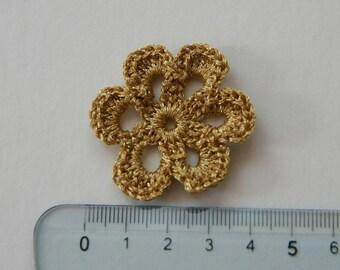 Set of 3 flowers crochet for customisation