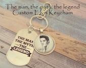 Elvis Presley Gift, Elvis Gift, Gift for Elvis Fan, Custom Photo Elvis Keychain, Gift for Him, Gift for Her, Elvis Presley Gift Idea