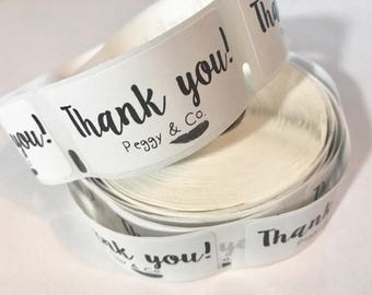 "500 Custom Thank You labels 1"" personalized business logo thank you stickers thank you packing stickers packaging labels custom logo labels"