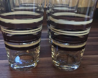 Libbey Striped Glasses - Set of 6