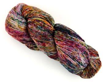 Malabrigo Mechita Carnival 669 Speckled Merino Yarn Superwash Merino Wool Hand-dyed Fingering Single Ply Yarn 420 Yards 100 Gms / 3.53 Oz