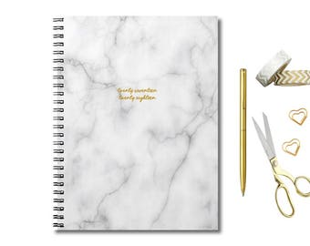 2017-2018 Planner - Weekly Planner - Personalized Planner - Academic Planner - Agenda 2017 - Student planner - 2018 Calendar -Marble Planner