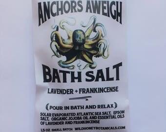 Bath Salt Anchors Aweigh Lavender Frankincense