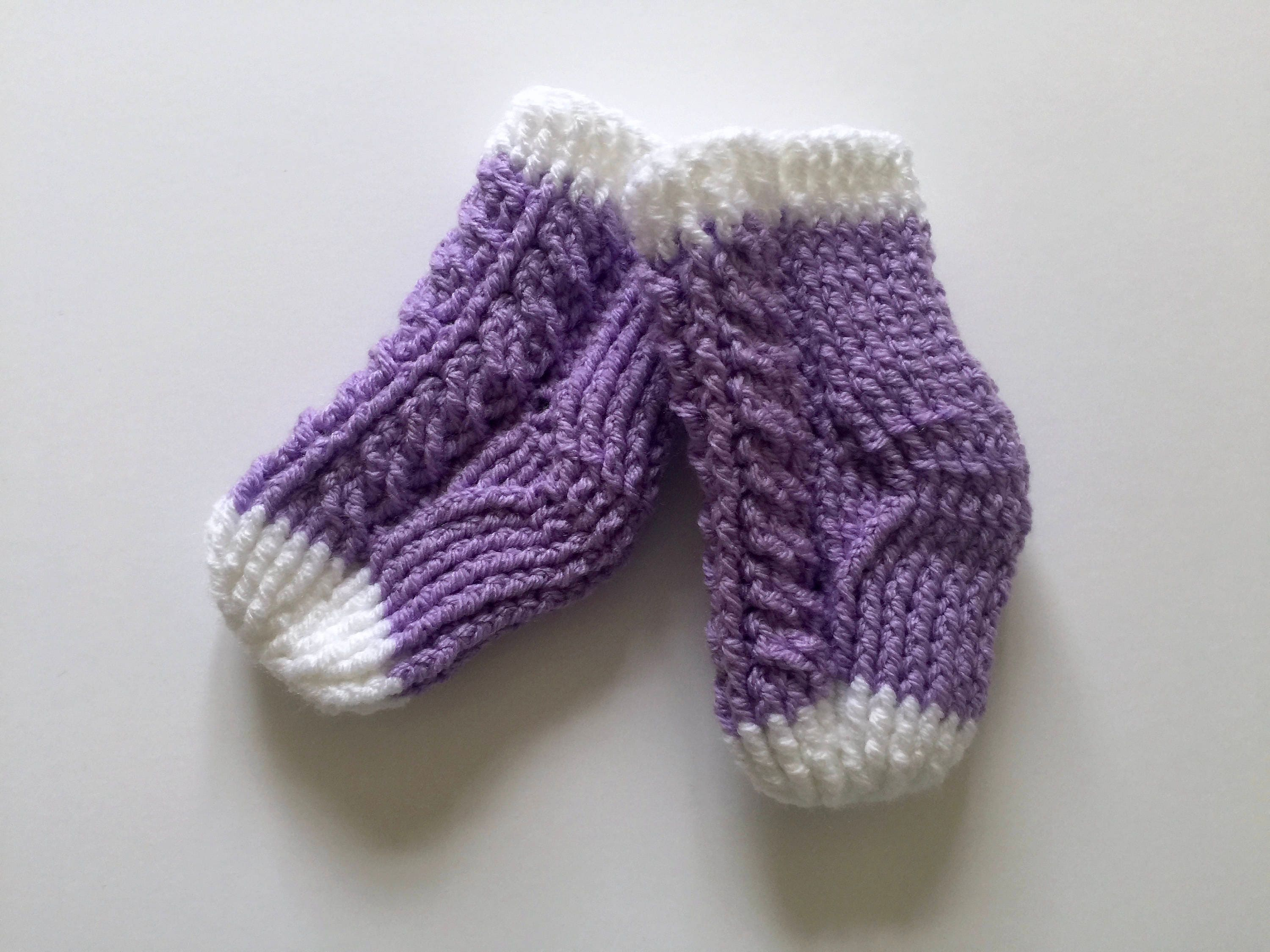 Crochet Baby socks babyshower t baby socks baby cable socks