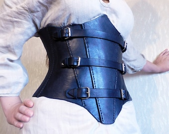 Leather Corset - Hand Stitched - Cosplay - Underbust