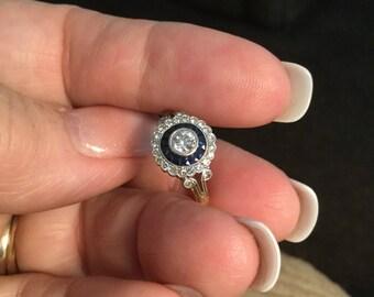 Antique Art Deco Target Ring