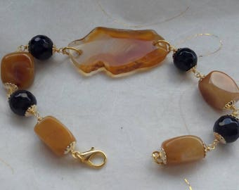 Genuine Agate Stone Bracelet