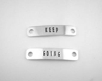 Keep Going Shoe Tags, Motivational Running Gear, Running Shoe Charms, Fitness Accessory, Trainer Tags, Race Gift for Runners