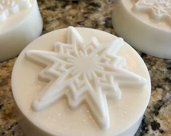 Snowflake goat milk Soap