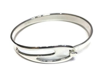 Luxury Silver Bangle/Georg Jensen Style/Adjustable Bangle/Silver Jewelry Bangle/Bridemaids Gifts/Mothers Day/Wedding Show/Christmas Present