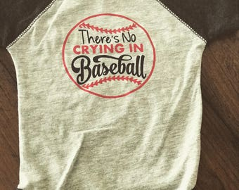 There's no crying in baseball infant bodysuit