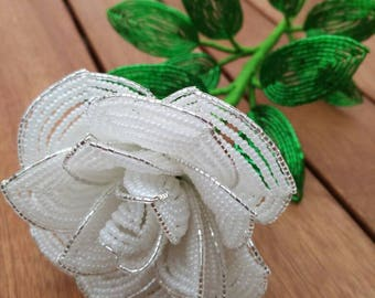 French Beaded Rose
