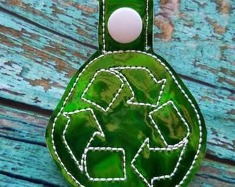 Green Recycle Keychain