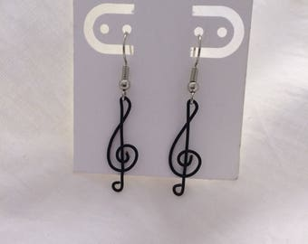 Treble Clef Wire Earrings