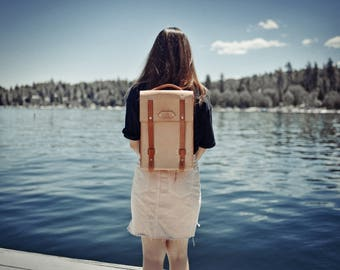 Leather backpack, latop bag, ipad bag. Handmade in the USA