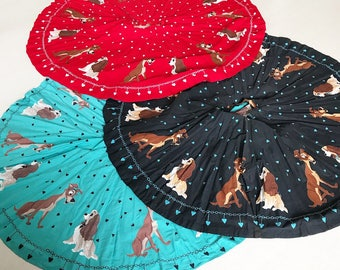 Set of three Crazy Rare 1950s Lady and the Tramp novelty print Disney skirts