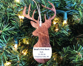 First Buck Ornament, Hunting Ornament, 1st Buck Ornament, Deer Ornament, Ornaments For Men, Hunting Gift, Christmas Ornament for Him